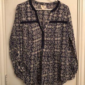 Anthropologie Maeve peplum blouse